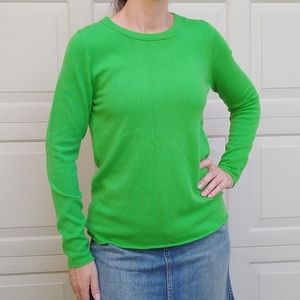 J CREW COLLECTION green Italian cashmere sweater
